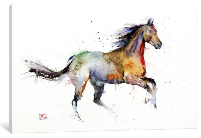 """""""horse Ii"""" By Dean Crouser, 26x18x1.5""""."""