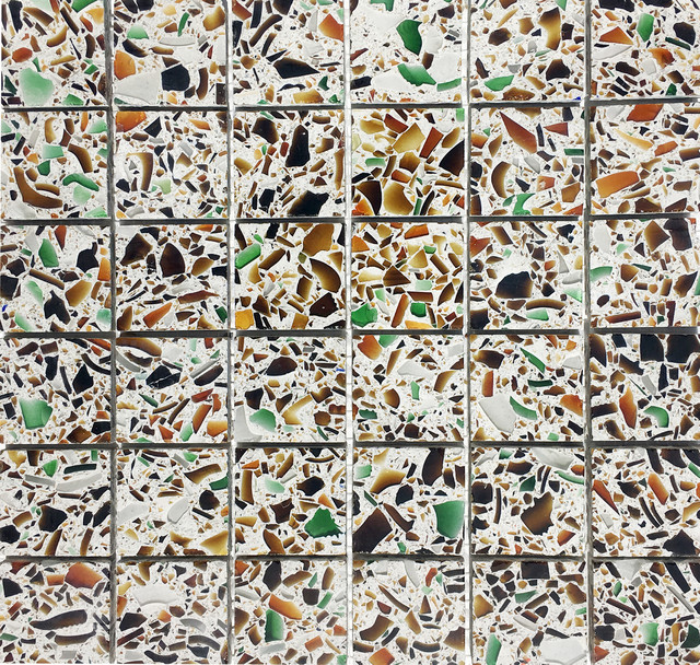 12 X12 Recycled Gl Mosaic Tiles For Backsplash Alehouse Amber Modern Tile By Vetrazzo