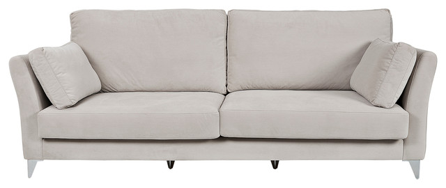 Arles Contemporary Sofa, Bone, 2-Seater