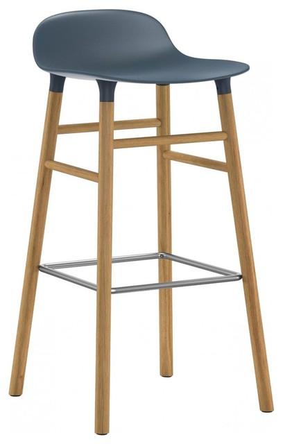Form Barstool, Blue