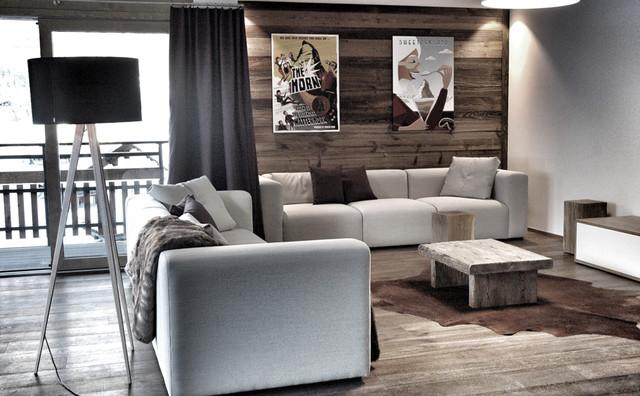 Modern chalet style zermatt modern sonstige von for Chalet modern einrichten