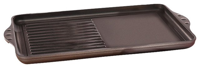 Swiss Diamond Nonstick Double-Burner Grill/griddle Combo.