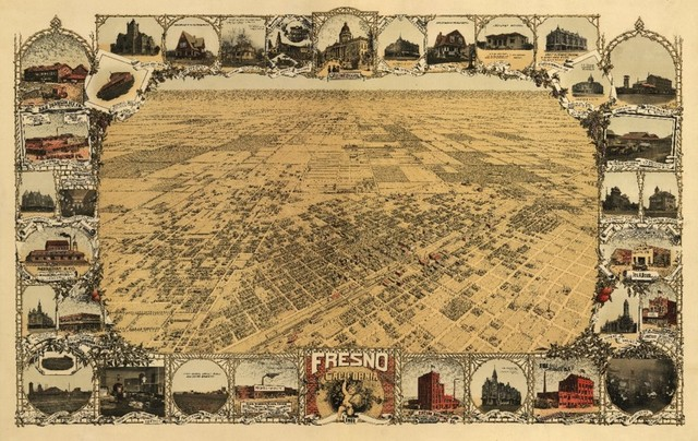 Quot Fresno California Panoramic Map Quot Print Traditional