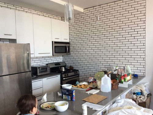 Whats wrong with the crackled brick subway tile in kitchen
