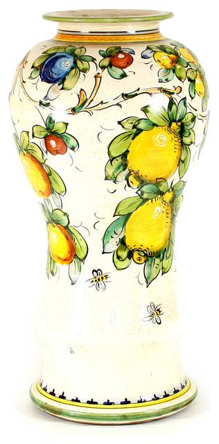 Majolica, Montelupo Shaped Vase