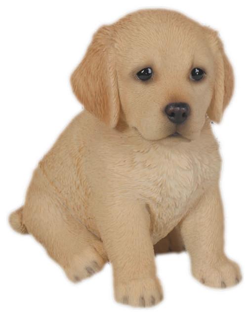 Realistic Golden Retriever Puppy Garden Statue