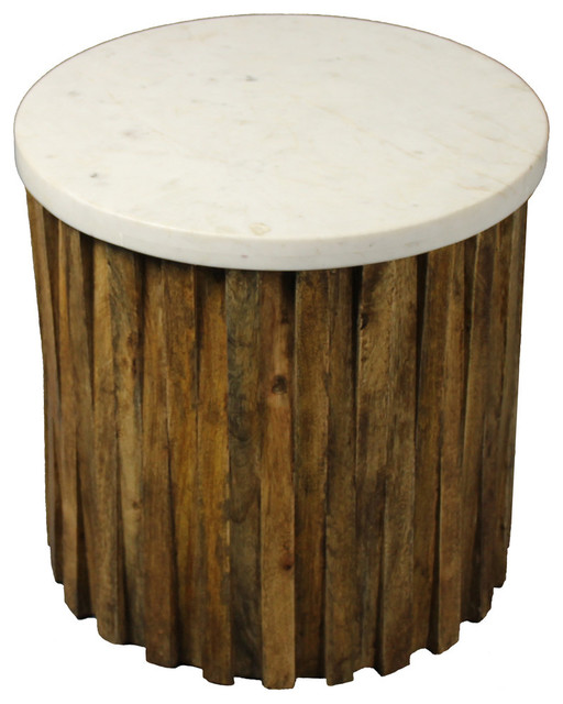 Marble Top Accent Table.