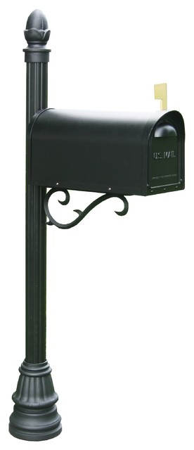 Aluminum mailbox post Pole Mount Mamb St John Aluminum Mailbox Post With Americana Base Houzz Mamb St John Aluminum Mailbox Post With Americana Base