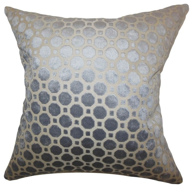"Kostya Geometric Pillow Grey 20""x20""."