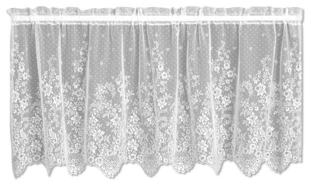 floret tier victorian valances by heritage lace. Black Bedroom Furniture Sets. Home Design Ideas
