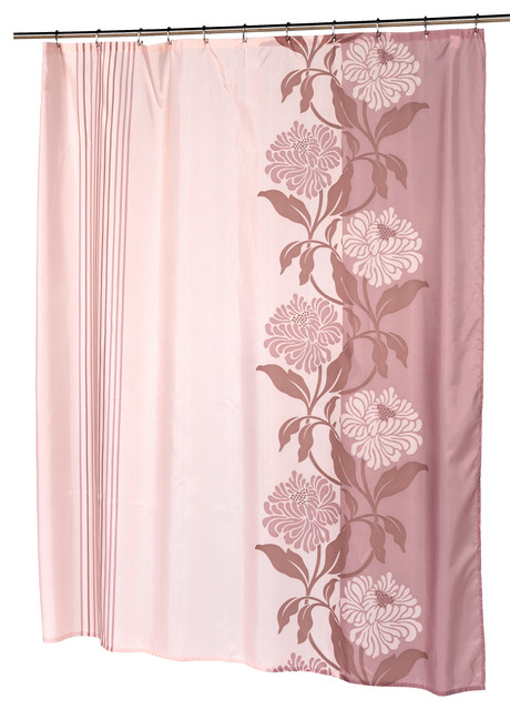 Extra Long Chelsea Fabric Shower Curtain Contemporary Shower Curtains By Carnation Home