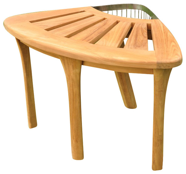 Teak Deals - Stool, Teak Corner Stool & Reviews | Houzz