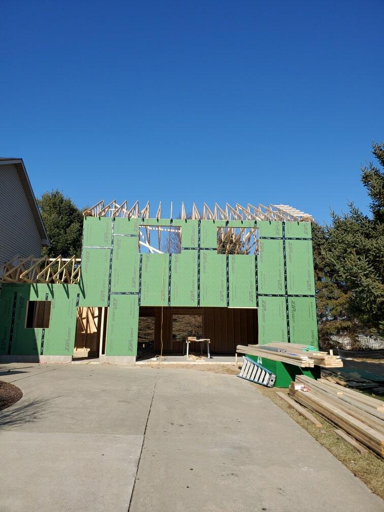 2 story 2 car garage addition