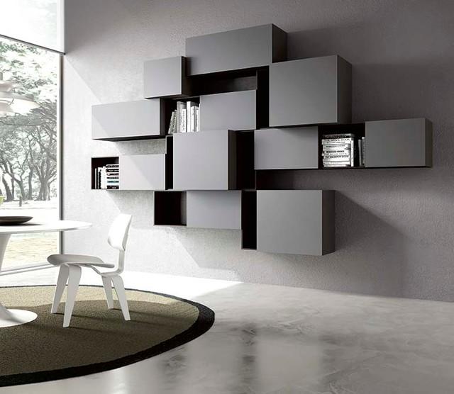 Parete soggiorno minimalista contemporaneo milano di for Soggiorno minimalista