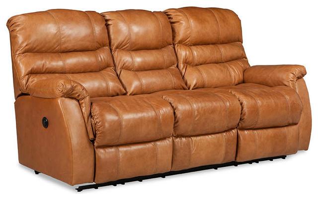 Garrett Power Double Reclining Sofa, Cerato Saddle.