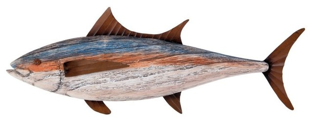 Large Wooden Fish Wall Decor from st.hzcdn.com