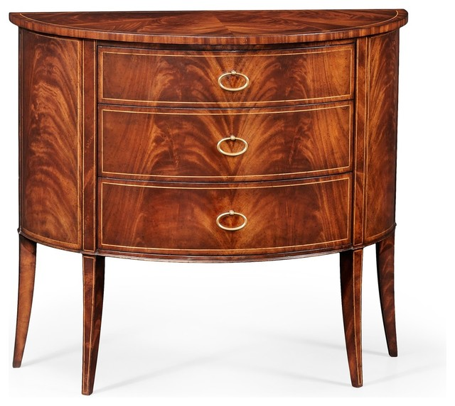 Jonathan Charles Luxe Light Antique Mahogany Console Cabinet traditional- console-tables - Jonathan Charles Luxe Light Antique Mahogany Console Cabinet
