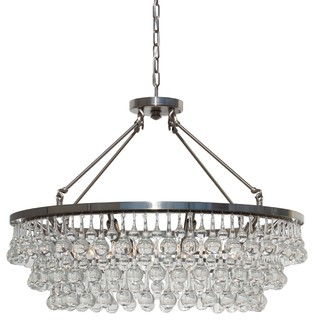 Brushed nickel chandeliers houzz lightupmyhome 32 glass drop crystal chandelier brushed nickel chandeliers aloadofball Image collections