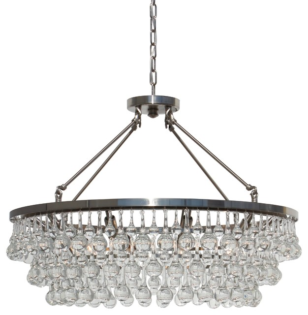Glass Drop Crystal Chandelier Brushed Nickel Contemporary - Chandelier drop crystals