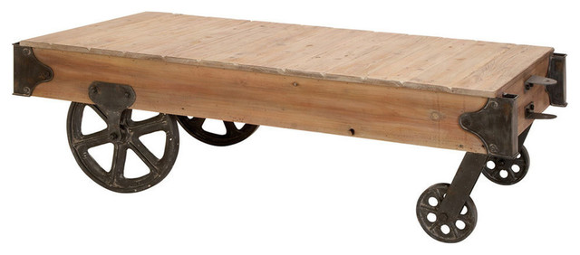 Wooden Cart Coffee Table.