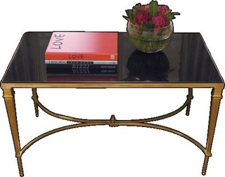 Global Views Brass French Square Leg Cocktail Table