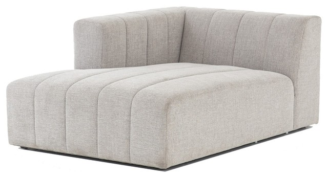 Langham Channel Tufted Laf Sectional Chaise.