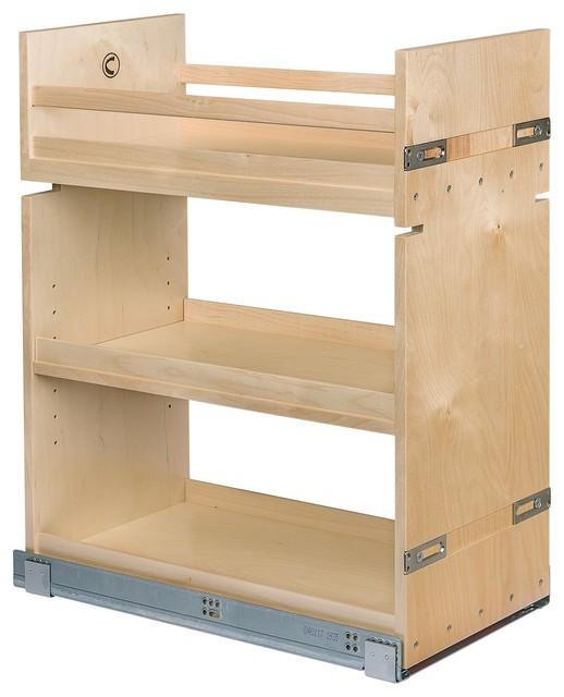Century Components Pull-Out Birch Kitchen Organizer 11-7/8 Wide.