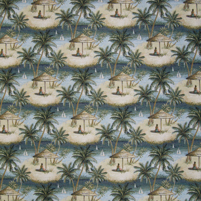 Multi Green Tapestry Novelty Tropical Be Upholstery Fabric By The Yard