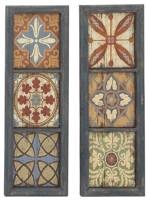 Decorative Wood Wall Panels, 2-Piece Set.