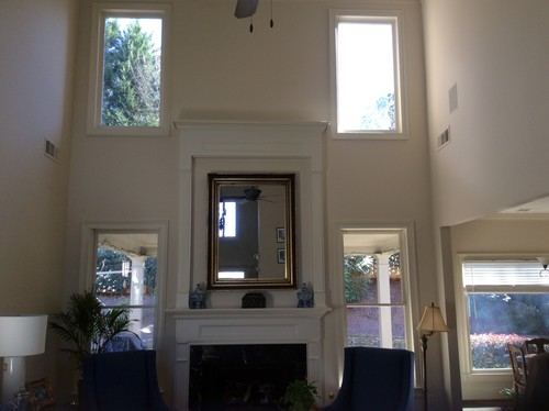 Bon Window Treatments Or Shutters For Tall High Windows And/ Or Bottom Win