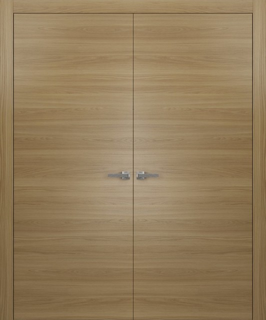 Exceptionnel Interior Modern Wood Double Doors Honey Ash, No Pre Drilled, ...