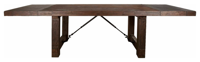 Cade Extension Dining Table, Brown.