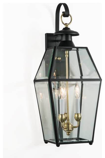 Olde Colony Outdoor Wall Sconce Black