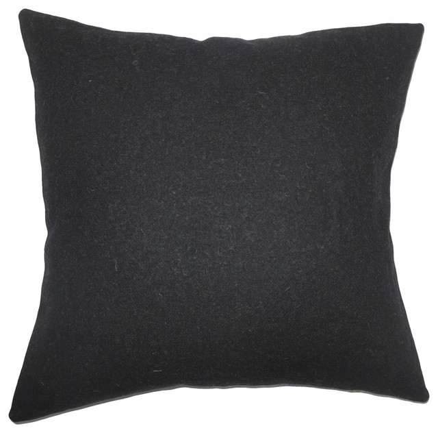 The Pillow Collection Quant Solid Bedding Sham Black