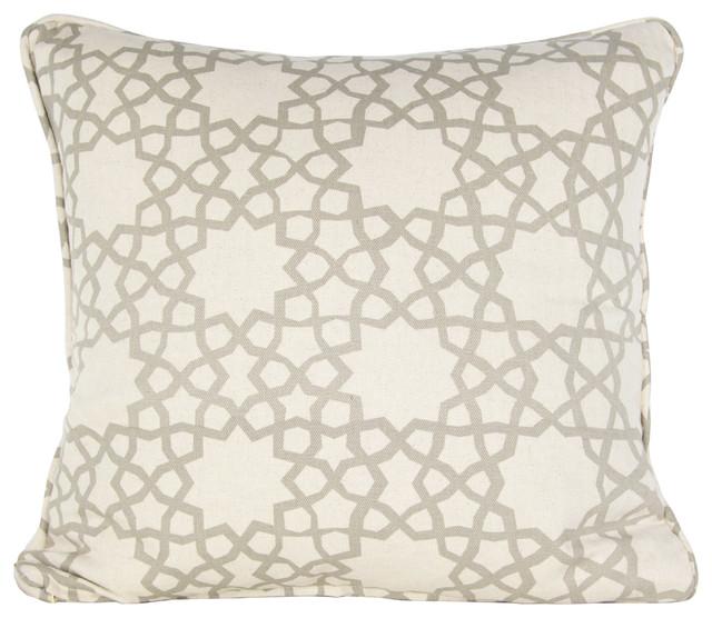 Alhambra Stars Cushion, Mushroom