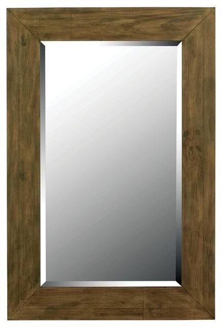 Kenroy Home Eureka Wall Mirror, Dark Wood Grain - 60202.