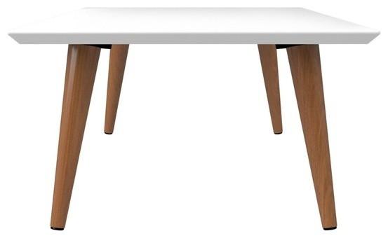 Excellent Mid Century Modern Lacquered Coffee Table Off White Maple Cream Uwap Interior Chair Design Uwaporg