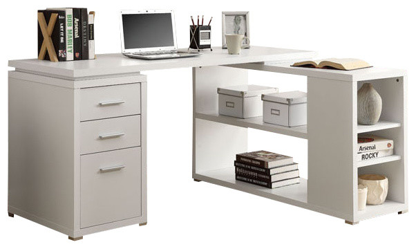 Left or Right Facing Computer Desk Contemporary Desks And