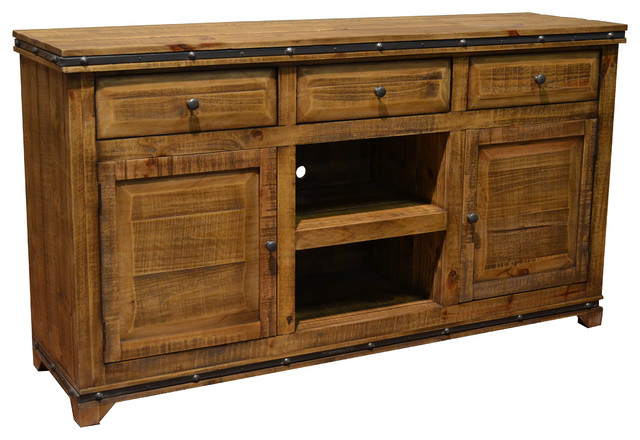 e970f39c8cec Addison Solid Wood TV Stand Media Console - Rustic - Entertainment Centers  And Tv Stands - by Crafters and Weavers