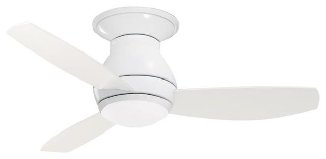 Two Light Appliance White Ceiling Fan