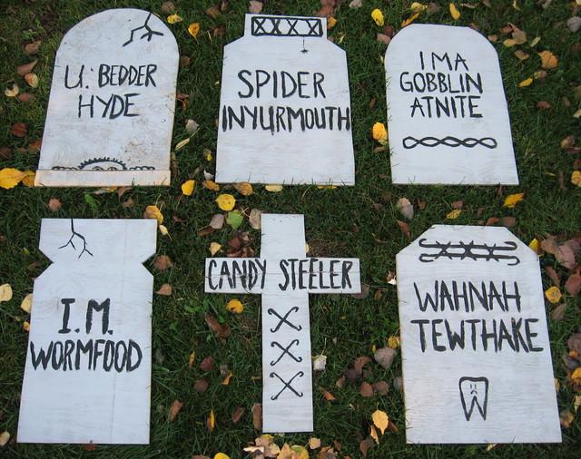 gravestones - Funny Halloween Tombstone Names