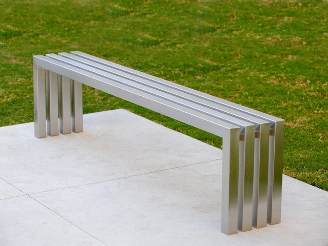 Linear Stainless Steel Bench Sarabi Studio Austin Tx