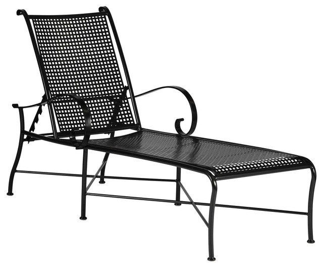 Charmant Verano Wrought Iron Chaise Lounge
