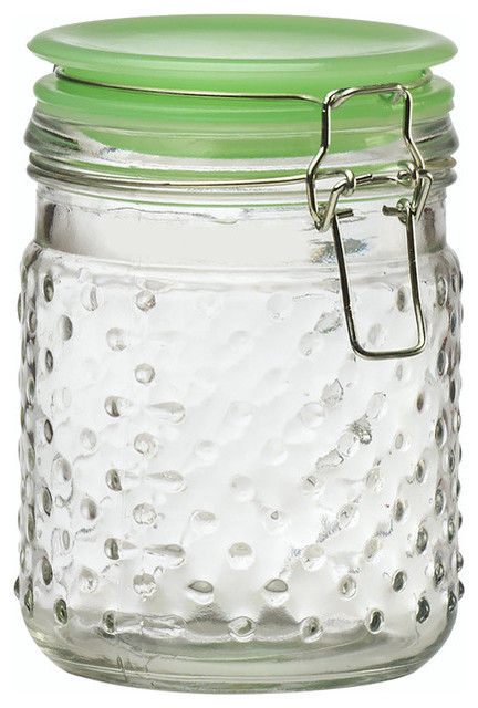 Amici Home Emma Jade Hobnail Canister, Small.