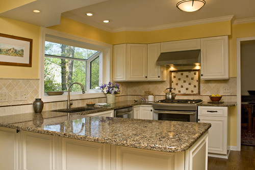 Sunny Tuscan Inspired Kitchen with Beautiful Bronze Accents