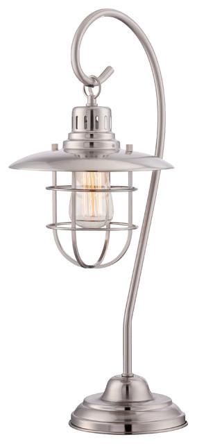 Lanterna Ii 1-Light Table Lamp Polished Steel.