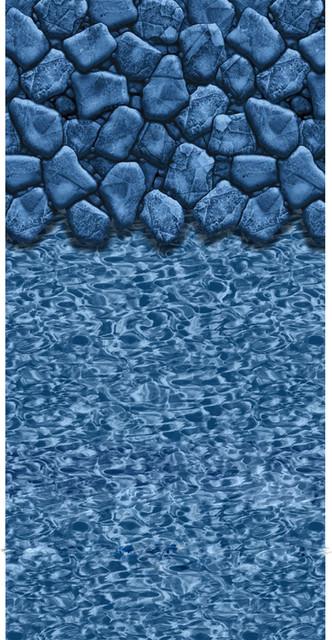 "Boulder Swirl Oval Beaded Pool Liner 52"" Deep, 12&x27;x24&x27;."