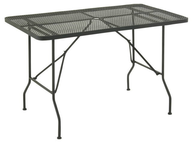 Metal Fold Outdoor Table Punched Hole Design Modern Outdoor