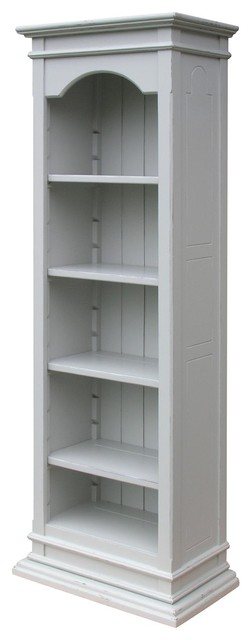 Bookcase Painted Gray Resin Hardwood.