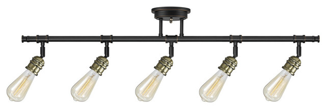 Rennes 5 Light Oil Rubbed Bronze Track Lighting Bulbs Included